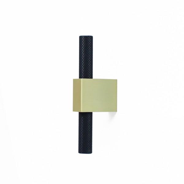 8963 black matt / brass brushed AL6/BB 100mm